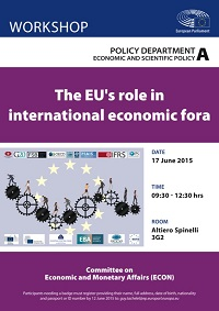 The Role of the EU in International Economic Fora (Poster)