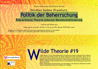Poster for Wilde Theorie 19