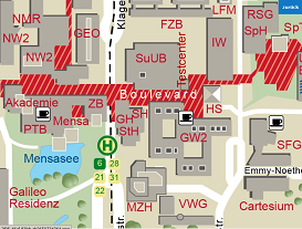 University of Bremen - Site Map