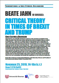 Critical Theory In Times Of Brexit And Trump