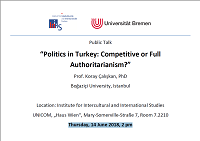 """Politics in Turkey: Competitive or Full Authoritarianism?"""